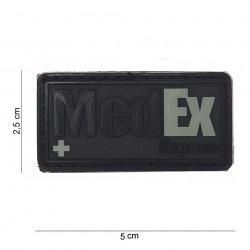 "Patch 3D PVC ""MedEx Express"" noir avec velcro, 101 Inc"