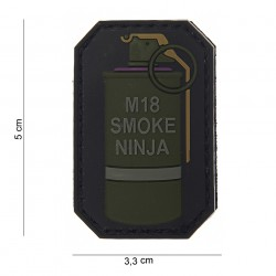 "Patch 3D PVC ""M-18 smoke ninja"" bague violette avec velcro, 101 Inc"