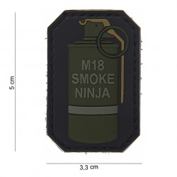 "Patch 3D PVC ""M-18 smoke ninja"" bague verte avec velcro, 101 Inc"