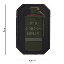 "Patch 3D PVC ""M-18 smoke ninja"" bague rouge avec velcro, 101 Inc"