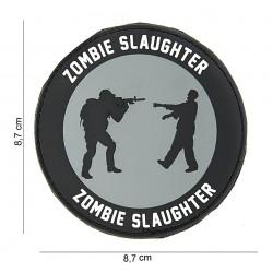 """Patch 3D PVC """"Zombie slaughter"""" noir et gris avec velcro, 101 Inc"""