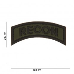 "Patch 3D PVC ""Recon"" avec velcro, 101 Inc"