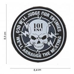 """Patch 3D PVC """"101 Inc God will judge our enemies"""" avec velcro, 101 Inc"""