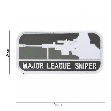 """Patch 3D PVC """"Major League Sniper"""" gris avec velcro, 101 Inc"""