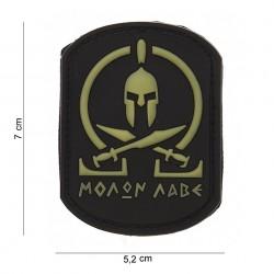 """Patch 3D PVC """"Molon Labe Spartan SWAT"""" avec velcro, 101 Inc"""