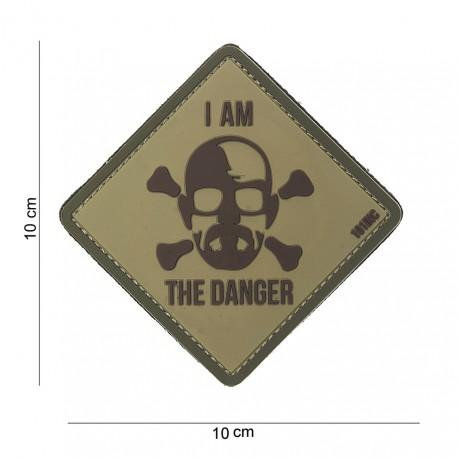 """Patch 3D PVC """"I am the danger"""" sable avec velcro, 101 Inc"""