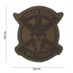 "Patch 3D PVC ""Malo Mori"" brun avec velcro, 101 Inc"