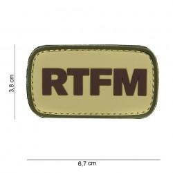 """Patch 3D PVC """"RTFM"""" avec velcro, 101 Inc"""