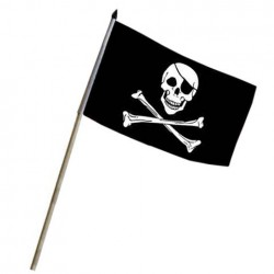 "Drapeau à bâton ""Pirate"", 101 Inc"
