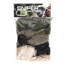 Cordon pour camouflage de réplique sniper camouflage woodland, 101 Inc