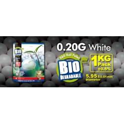 Billes airsoft biodégradables 0.20 gramme en sachet de 1 Kg de la marque G&G