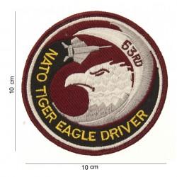 """Patch tissus """"Nato tiger eagle driver"""", 101 Inc"""