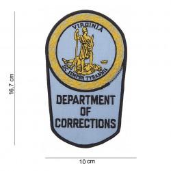 "Patch tissus ""Department of corrections Virginia"", 101 Inc"