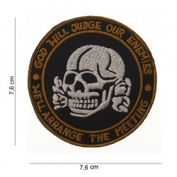 "Patch tissus ""God will judge our enemies"", 101 Inc"