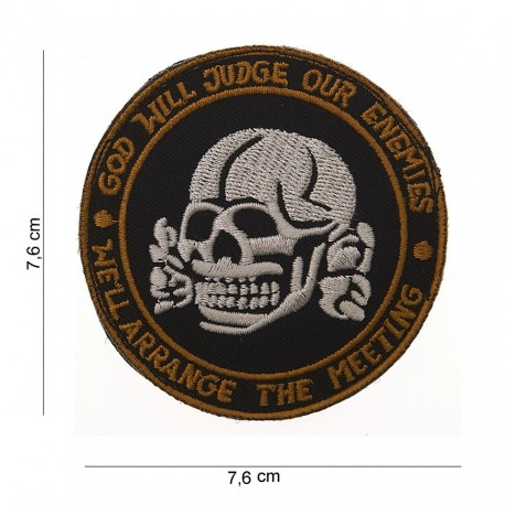 """Patch tissus """"God will judge our enemies"""", 101 Inc"""