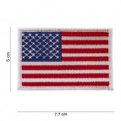 "Patch tissus ""USA white border"", 101 Inc"