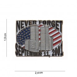 "Badge ""Never forget"" noir, 101 Inc"