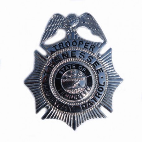 "Badge ""Trooper Tennessee high way patrol"" silver, 101 Inc"