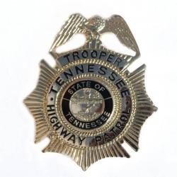 """Badge """"Trooper Tennessee highway patrol"""" doré, 101 Inc"""