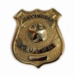 "Badge ""Security guard"" doré, 101 Inc"