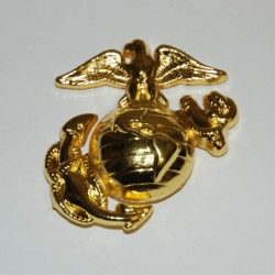 """Badge """"USMC"""" doré, 101 Inc"""