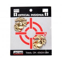 "Badge ""USMC"" doré, par 2, 101 Inc"