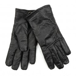 Gants en cuir noir style Allemand, 101 Inc