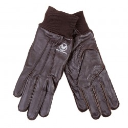 "Gants ""Air Force"" en cuir brun, 101 Inc"
