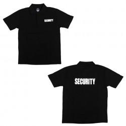 """Polo manches courtes """"Security"""" noir, 101 Inc"""