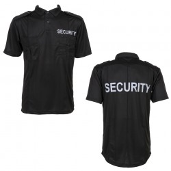 "Polo manches courtes ""Security"" noir 