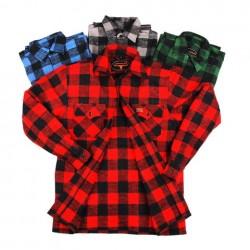 Chemise de bucheron à carreaux - Différents coloris, 101 Inc