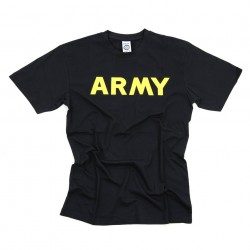 "T-shirt ""Army"" noir, 101 Inc"