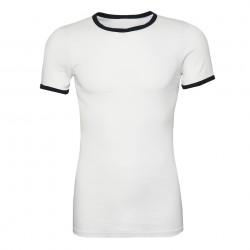"""T-shirt """"Marine"""" blanc, 101 Inc"""