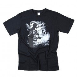 "T-shirt ""Soldier skull"" noir, 101 Inc"