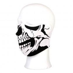 Masque néoprène demi white skull | 101 Inc