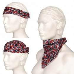"Bandana 3 en 1 ""Drapeau rebel"" 