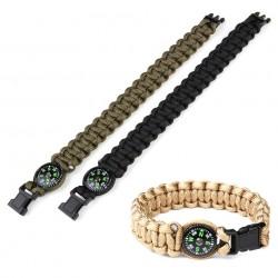 """Bracelet paracorde avec boussole """"K2023"""" 8 inch - Différents coloris   101 Inc"""