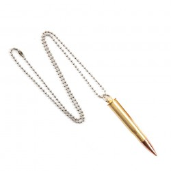 "Collier ""Balle de calibre 8 x 51"" 