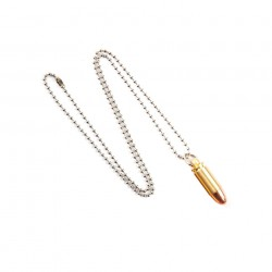 "Collier ""Balle de calibre 9 mm"" 