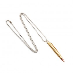 "Collier ""Balle de calibre .223"" 