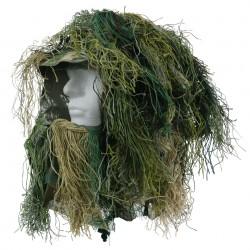 Camouflage de tête ghillie camouflage woodland | 101 Inc