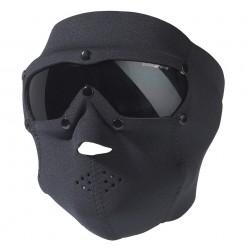 Masque de protection verres fumés avec néoprène noir | Swiss Eye