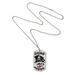 "Plaque militaire ""Jolly Rogers"" chrome 
