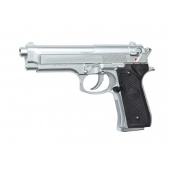 Réplique airsoft M92 FS chrome ressort | ASG