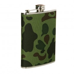 Flasque en métal 220 ml camouflage woodland | 101 Inc