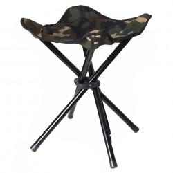 Tabouret pliant 4 pieds camouflage woodland | 101 Inc
