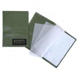 Porte documents A5 vert étanche   Fosco