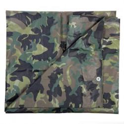 Bâche camouflage woodland 3,8 x 5 m   101 Inc