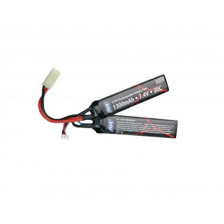 Batterie 2 sticks Li-Po 7,4 V - 1300 mAh | ASG