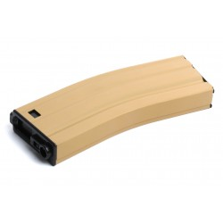Chargeur métal tan 450 billes pour réplique airsoft GR16 électrique   G&G